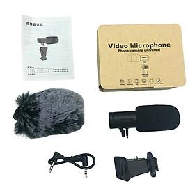 Bộ mic thu âm chuyên nghiệp MIC-06 với thiết bị chống sốc, chắn gió và bộ bảo vệ cho điện thoại, camera DSLR và máy quay phim