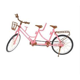 Xe đạp đôi dành cho búp bê màu hồng