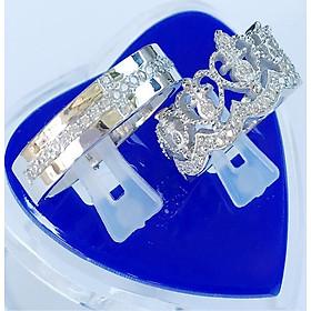 Nhẫn Đôi Bạc ND1122 Mini