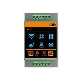 Công Tắc Nhiệt Độ Độ Ẩm 2 Relay Độc Lập Wifi Tuya FH-02