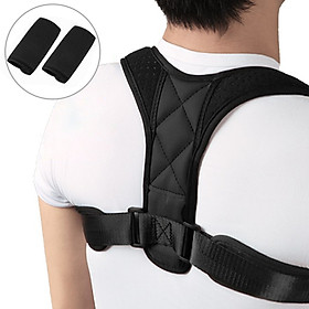 Posture Corrector with Shoulder Pads Men Women Adjustable Back Trainer Shoulder Straps Back Brace Support-5