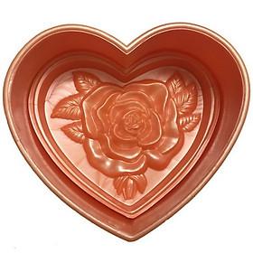 Khuôn ép xôi tim hoa hồng