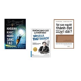 Combo 3 cuốn sách: Khoảnh Khắc Người Sáng Tạo + Không Bao Giờ Là Thất Bại! Tất Cả Là Thử Thách + Tại sao người thành đạt hay dùng ví dài