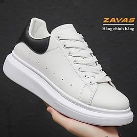 Giày thể thao sneaker nam màu trắng bằng da không tróc thương hiệu ZAVAS - S386 - Hàng chính hãng