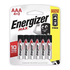 Pin Max 4 + 2 Viên Energizer E92 BP4+2 AAA