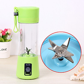 Portable 6 Blades USB Charging Eletric Fruit Juicer Blender