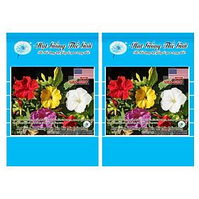 Bộ 2 Gói Hạt Giống Hoa Bông Phấn Bốn Giờ - Mix Nhiều Màu (Mirabilis) 20h