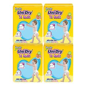 Combo 4 Tã Quần Unidry Ultra Jumbo XXL56 (56 Miếng)