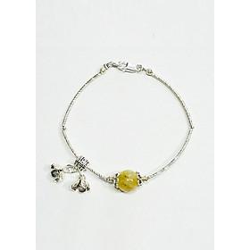 Vòng tay Hạt Ngọc Phương Đông đá Sachin vàng - charm cao cấp