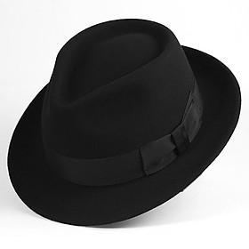 Mũ phớt nỉ nam len lông cừu cao cấp MP020 - Tặng đế giữ form mũ