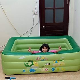 Bể bơi phao gia đình chính hãng Summer Baby 180*140*60CM (tặng kèm bơm điện)