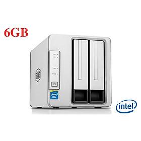 Bộ lưu trữ mạng NAS TerraMaster F2-221, Intel Dual-core 2.0GHz, 6GB RAM, LAN 2x 1GbE, 2 khay ổ cứng RAID 0,1,JBOD,Single - Hàng chính hãng