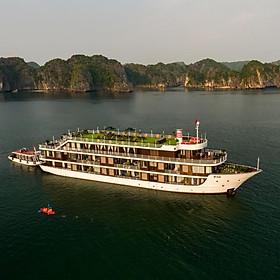 Du Thuyền Doris Cruises 5* Sang Trọng, Đẳng Cấp - Khám Phá Vịnh Hạ Long - Vịnh Lan Hạ, Chèo Thuyền Kayak, Tắm Vịnh, Câu Mực Đêm, Tập Taichi