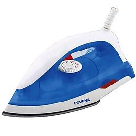 Bàn ủi khô Povena 1000W Povena PVN-9210 mặt đế phủ chống dính, cảm biến nhiệt ngắt an toàn, màu ngẫu nhiên-Hàng chính hãng