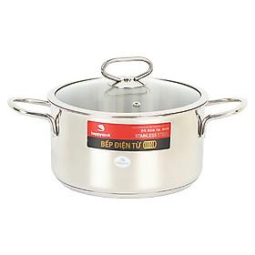 Nồi Inox Cao Cấp 3 Đáy Nắp Kiếng Happy Cook Delux 16cm N16-DLG