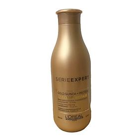 Dầu xả tóc phục hồi tóc hư tổn  L'oreal Gold Quinoa + Protein Absolut Repair diêm mạch vàng 200ml [Mới Chính Hãng ]