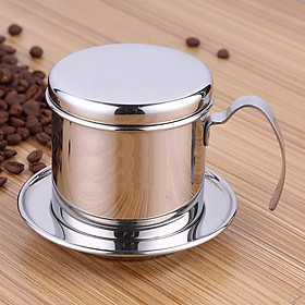 Phin cafe inox cao cấp phong cách truyền thống của Việt Nam sang trọng tinh tế - Vietnamese Coffee Maker Traditional Drip Coffee Filter Stainless Steel Cup Luxury