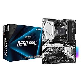 Bo mạch chủ Mainboard ASRock B550 Pro4 Supports 3rd Gen AMD AM4 Ryzen - Hàng Chính Hãng