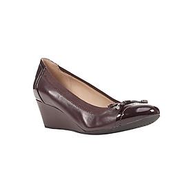 Giày Búp Bê Đế Xuồng Nữ GEOX D FLORALIE A NAPPA+GBK PAT DK BURGUNDY - Nâu Đen