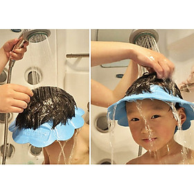 Mũ Nón Chắn Nước Gội Đầu Cho Bé Điều Chỉnh Được Kích Thước NKJP12 - Nhật Bản