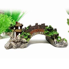 Tiểu Cảnh Nhựa Trang Trí Hồ Cá Hình Cầu