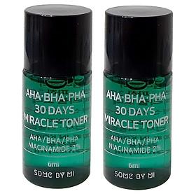 Combo 2 Nước hoa hồng giảm mụn Some By Mi AHA BHA PHA 30 Days Miracle Mini 6ml x 2