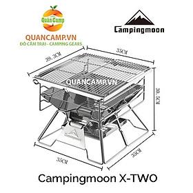 Bếp nướng dã ngoại xếp gọn Campingmoon X-Two