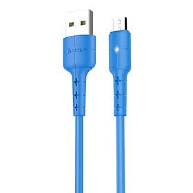 Cáp sạc nhanh Micro USB Hoco, hỗ trợ sạc nhanh 2A, chất liệu TPE siêu bền, hạn chế rối, dài 120cm dành cho Samsung, Xiaomi, Huawei, Vivo, Sony, X30 - Hàng chính hãng