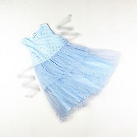Đầm voan công chúa xanh biển ánh kim nhiều lớp cho bé gái 1-7 tuổi từ 12 đến 24 kg 01903