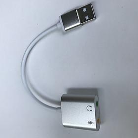 Cáp USB Sound Card 7.1 vỏ nhôm cao cấp dài 16cm ( USB to Mic và Loa )