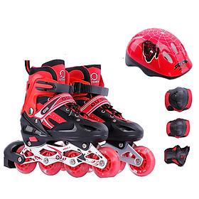 Combo Giày trượt patin OS bánh xe phát sáng + Mũ bảo hiểm + Bảo hộ chân tay