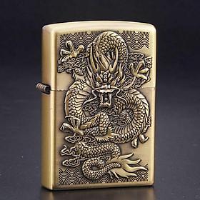 Bật lửa xăng God Dragon - Rồng Quân Vương A