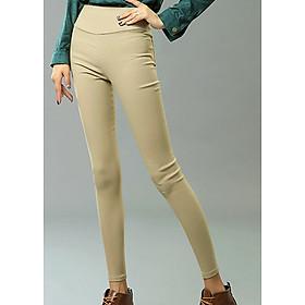 Quần nữ legging co giãn 4 chiều có túi sau - 157 - Kem