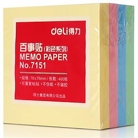 Giấy Ghi Chú Deli 7151 4 Màu (76 × 76mm)