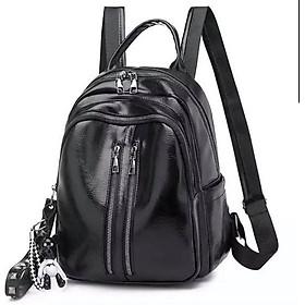 Balo da mini nữ thời trang 952K hai màu đen và da bò đẹp chất ngất đeo trước hoặc sau đều được HÌNH THẬT