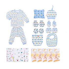 Combo 66 món sơ sinh Mintuu cho bé 0-3 tháng (100% Cotton)