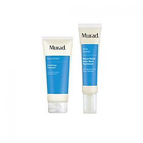 Combo giảm mụn Rapid Relief Acne Spot Treatment (gel + sữa rửa mặt)