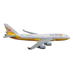 Mô Hình Máy Bay Trưng Bày Boeing 747 Royal Brunei Everfly (Vàng)