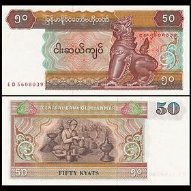 Tiền xưa Myanmar 50 kyats, quốc gia Đông Nam Á sưu tầm