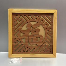 Tấm chống ám khói chữ Phúc ( chữ hán) ( trang trí trên ban thờ treo tường) sản phẩm có nhiều kích thước