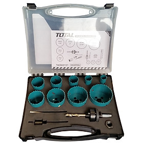 Bộ 13 mũi khoét lỗ kim loại Total TACSH0131