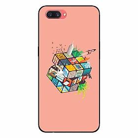 Ốp lưng in cho Realme C1 Rubik Cube