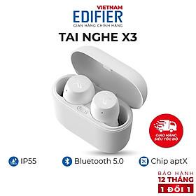 Tai nghe Bluetooth 5.0 EDIFIER X3 Âm thanh Stereo Chống nước IP55 - Hàng chính hãng