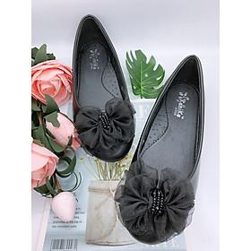 Giày búp bê bé gái dễ thương màu đen - Kenike