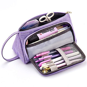 Siaonvr Big Capacity Pencil Pen Case Bag For Middle High School Office College Girl