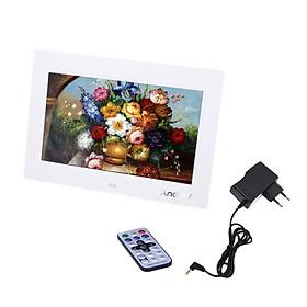 Khung Ảnh Kỹ Thuật Số Kèm Đồng Hồ Máy Nghe Nhạc MP3 MP4 Máy Chiếu Phim Điều Khiển Từ Xa TFT-LCD HD (10'')  (1024 x 600)
