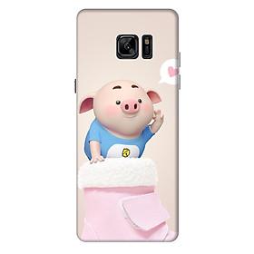 Ốp lưng nhựa cứng nhám dành cho Samsung Galaxy Note FE in hình Heo Con Yêu