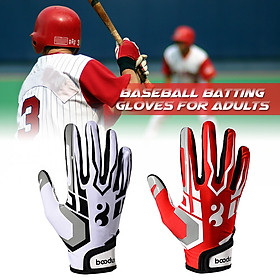 Batting Gloves Unisex Baseball Softball Batting Gloves Anti-slip Batting Gloves For Adults-5