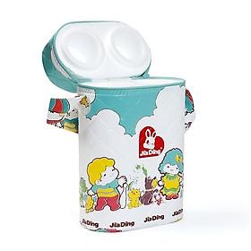 Bình ủ sữa đôi kiểu dáng xinh xắn cho bé (họa tiết ngẫu nhiên) - Tặng kèm 01 nút bịt ổ điện bảo vệ an toàn cho bé yêu