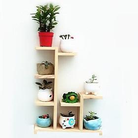 Kệ gỗ để bàn đựng chậu hoa, cây cảnh sang trọng kích thước 60x40x12 cm